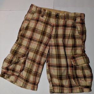 NOBO Vintage Plaid Men's Cargo Shorts medium
